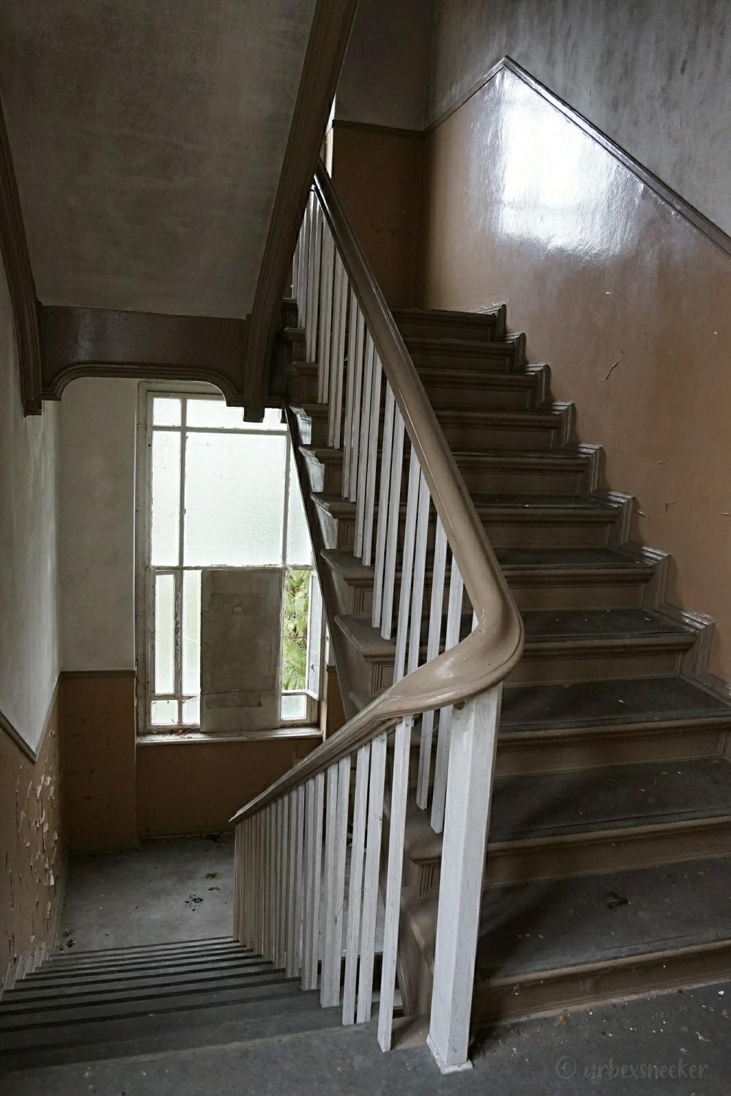 Treppenhaus verlassene Jugendstil-Villa