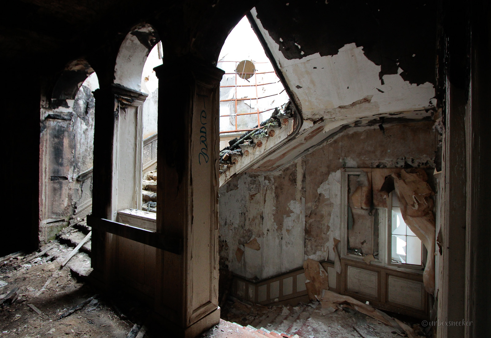 Harzburger Hof verbrannter Treppenaufgang
