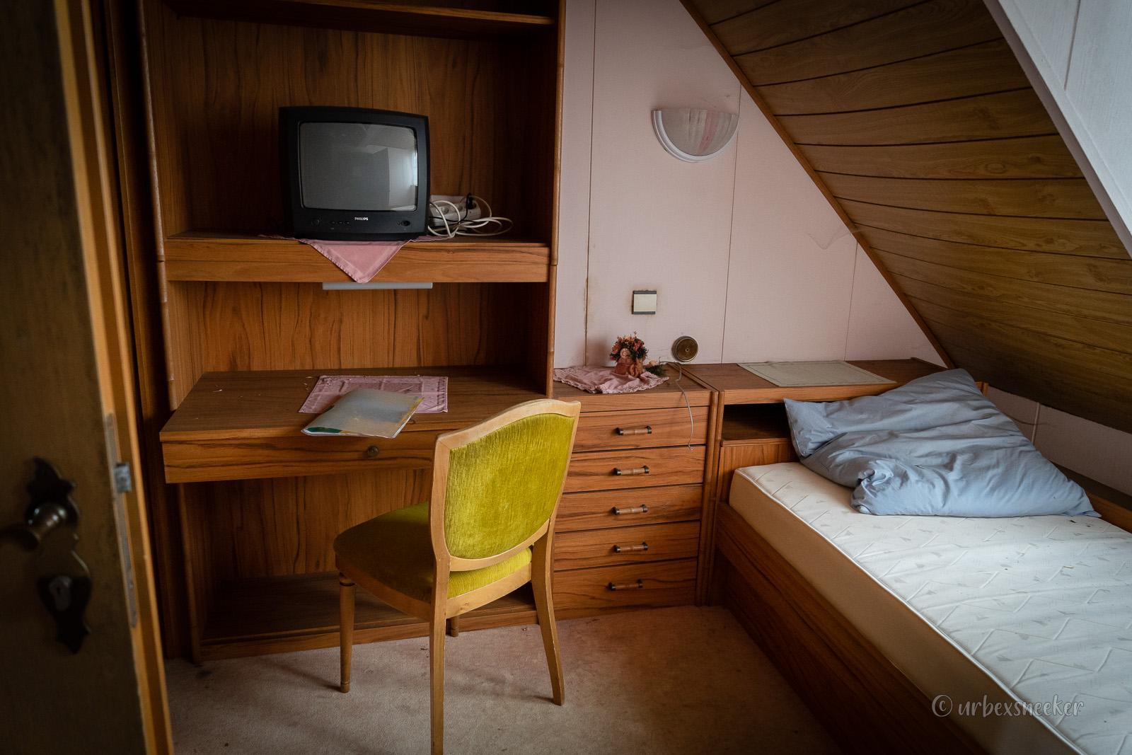 verlassenes Hotel Viktoria-Luise Zimmer Dachgeschoss